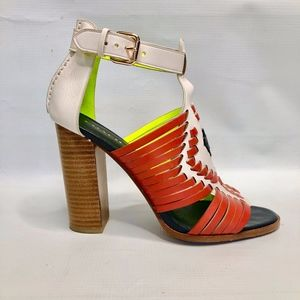 Coach Lorrie Huarache Leather Heeled Sandal